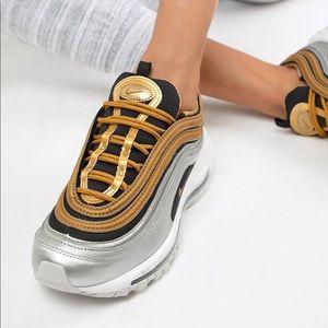 Nike Silver & Gold Metallic Air Max 97